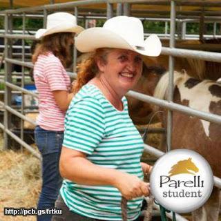 Parelli-Studentin Nicola Steiner